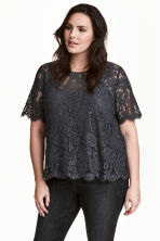 H&M+ Lace blouse - Dark grey - Ladies | H&M 1