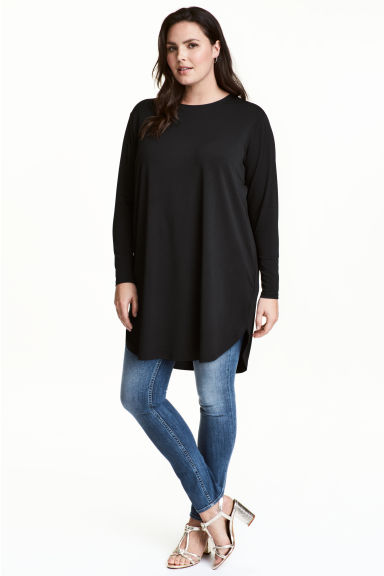 H&M+ Jersey tunic - Black - Ladies | H&M 1
