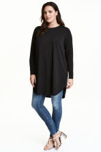 H&M+ Jersey tunic - Black - Ladies | H&M CN 1