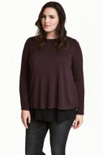 H&M+ Fine-knit jumper - Dark plum - Ladies | H&M 1