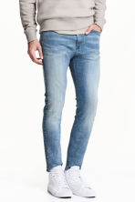 Skinny Regular Jeans - 蓝色水洗 - 男士 | H&M CN 1