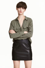 Viscose shirt - Khaki green - Ladies | H&M 1
