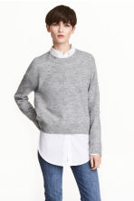 Oversized jumper - Grey marl - Ladies | H&M 1