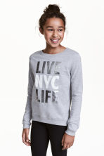 Printed sweatshirt - Grey/New York - Kids | H&M 1