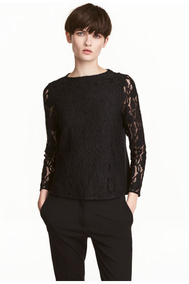 Lace top - Black - Ladies | H&M CN 1
