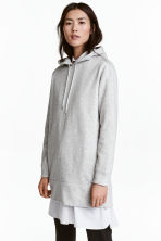 Oversized hooded top - Grey marl - Ladies | H&M CN 1