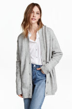 Oversized cardigan - Grey marl - Ladies | H&M 1