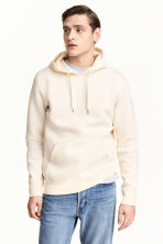Hooded top - Natural white - Men | H&M 1