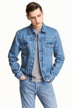 丹寧外套 - Light denim blue -  | H&M 1