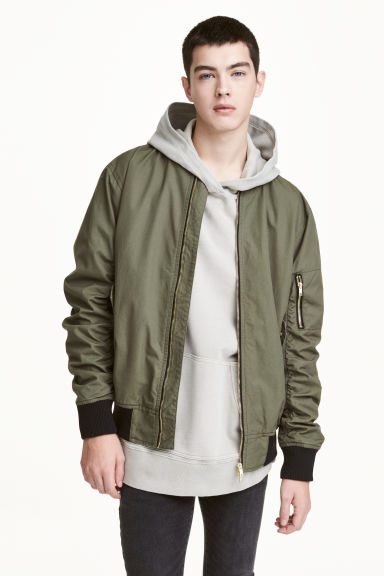Bomber jacket - Khaki green - Men | H&M 1