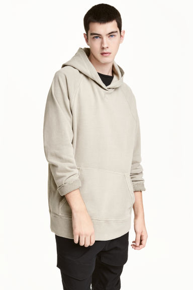 Washed hooded top Model