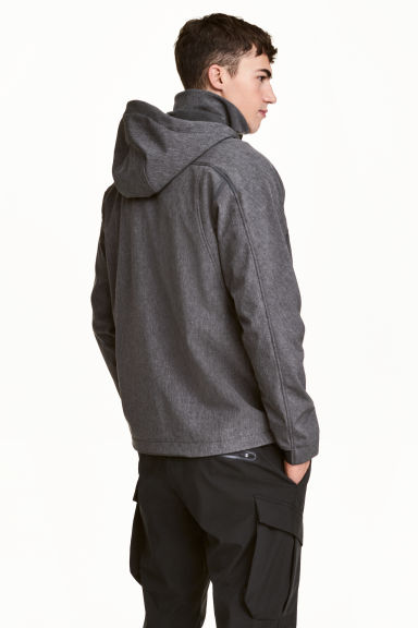 Softshell jacket - Dark grey marl - Men | H&M