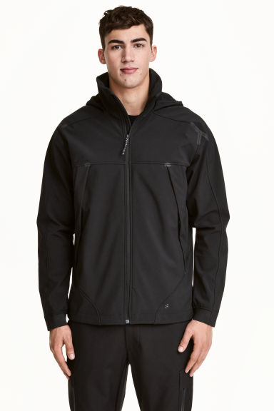 Softshell jacket - Black - Men | H&M