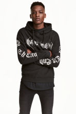 Printed hooded top - Black/Print - Men | H&M 1