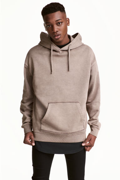 Washed hooded top - Mole - Men | H&M CN
