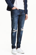 Slim Low Jeans - Blu denim chiaro/Trashed - UOMO | H&M IT 1