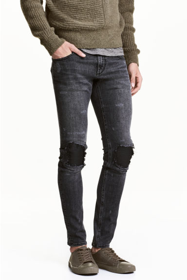 Super Skinny Trashed Jeans - Black washed out - Men | H&M 1