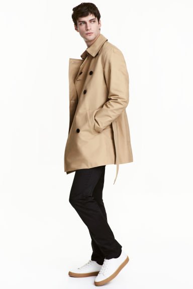 Trench-coat court - Beige - HOMME | H&M FR 1