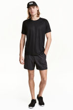 Running shorts - Black/Patterned -  | H&M 1
