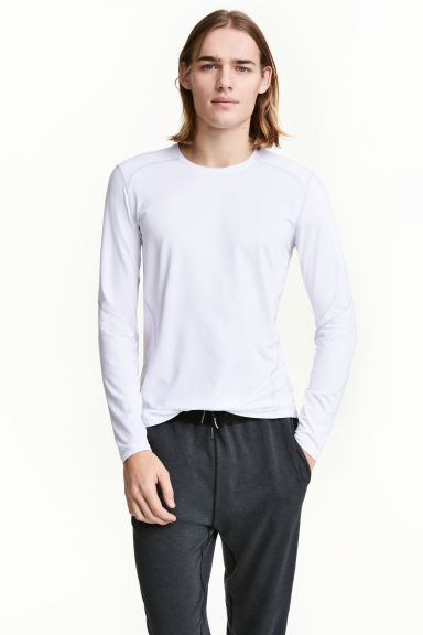 Sports top - White - Men | H&M 1