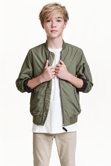 飛行員外套 - Khaki green - Kids | H&M