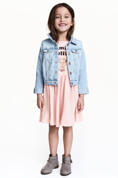 Robe en molleton - Rose clair/animal -  | H&M FR