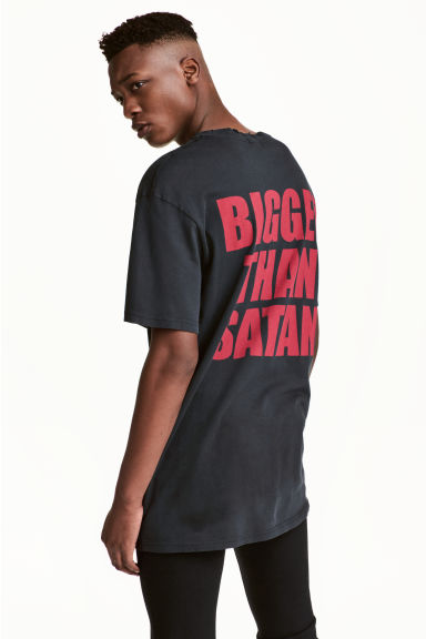 T-shirt with a print motif - Black/Marilyn Manson - Men | H&M 1