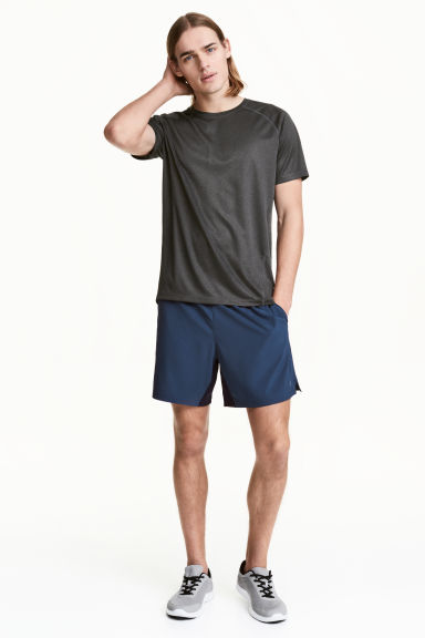 Knee-length running shorts - Dark blue -  | H&M 1
