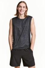 Sleeveless sports top - Dark grey marl - Men | H&M 1
