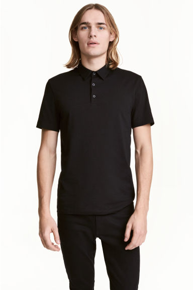 Polo Slim Fit - Noir - HOMME | H&M FR 1