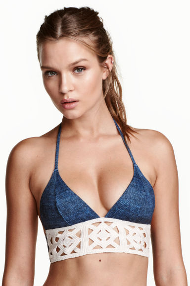 Bikini top - Denim blue - Ladies | H&M