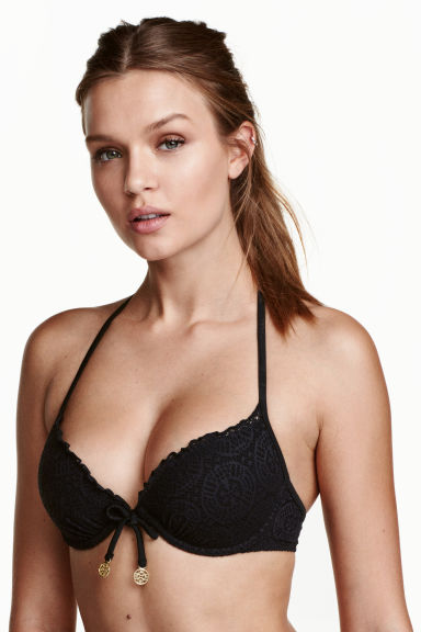 Push-up bikini top - Black - Ladies | H&M 1