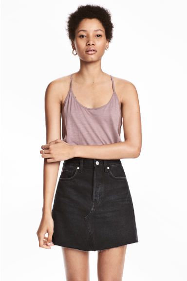 Top in slub jersey - Lilac - Ladies | H&M CN