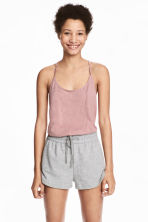 Top in slub jersey - Pink - Ladies | H&M CN 1