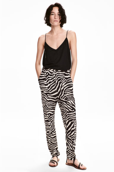 Jersey trousers - Zebra print - Ladies | H&M