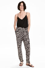 Jersey trousers - Zebra print - Ladies | H&M CA 1