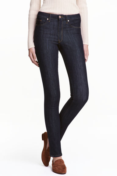 Skinny Regular Jeans - Dark denim blue - Ladies | H&M CN 1