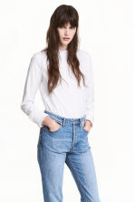 Frilled cotton blouse - White - Ladies | H&M CN 1