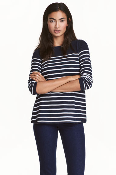 MAMA Nursing jumper - Dark blue/Striped - Ladies | H&M 1