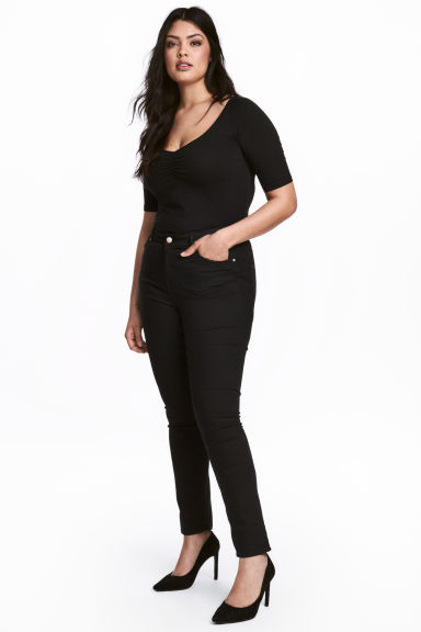 H&M+ Stretch trousers - Black - Ladies | H&M CN 1