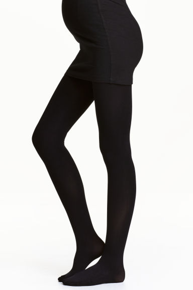 MAMA 100 denier tights - Black - Ladies | H&M GB