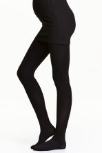 MAMA 100 denier tights - Black - Ladies | H&M 1