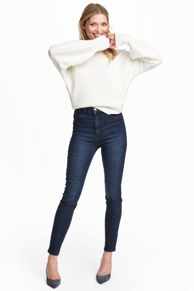 Superstretchbyxa High waist - Mörk denimblå - DAM | H&M FI 1