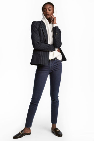 Superstretch trousers - Dark denim blue - Ladies | H&M CN 1