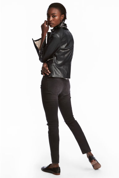 Skinny Regular Jeans - Nearly black - DAMES | H&M BE 1