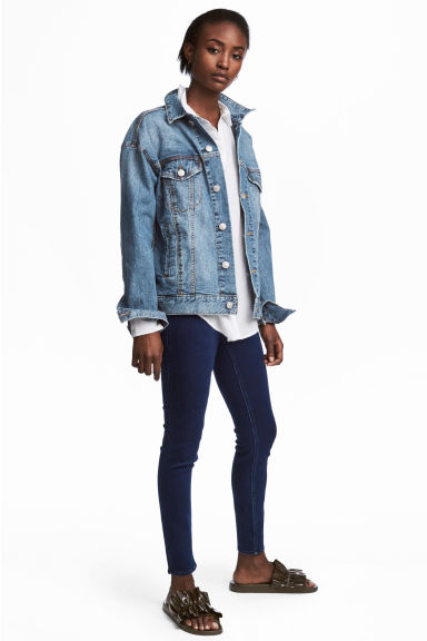 Superstretch-tregging - Donker denimblauw - DAMES | H&M NL 1