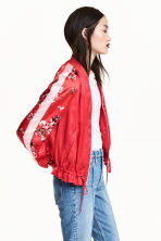 Bomber in satin - Rosso - DONNA | H&M IT 1