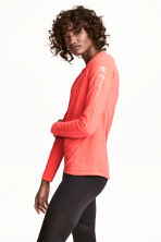 Sports top - Neon coral - Ladies | H&M 1