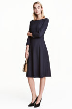 Knee-length dress - Dark blue/Patterned - Ladies | H&M 1