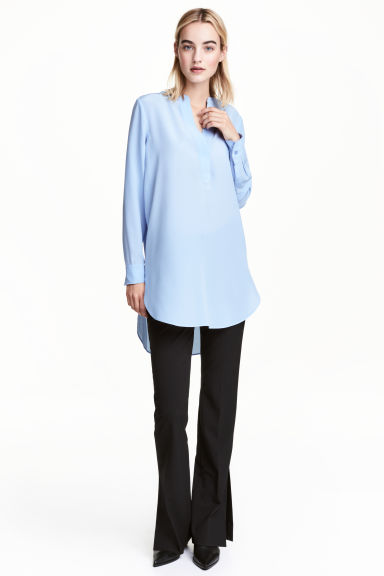 Silk tunic - Light blue - Ladies | H&M CN 1